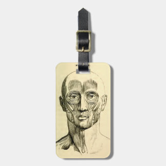 Vintage Anatomy | Muscles of the Face (circa 1852) Bag Tag