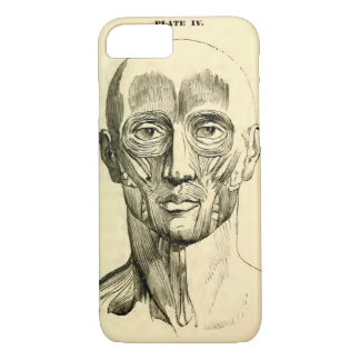 Vintage Anatomy | Muscles of the Face (circa 1852) iPhone 8/7 Case