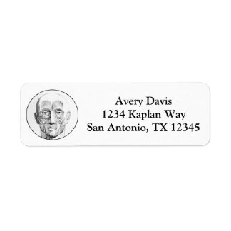 Vintage Anatomy | Muscles of the Face (circa 1852) Return Address Label