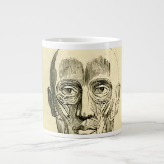 Vintage Anatomy | Muscles of the Face (circa 1852) Large Coffee Mug