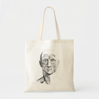 Vintage Anatomy | Muscles of the Face (circa 1852) Tote Bag