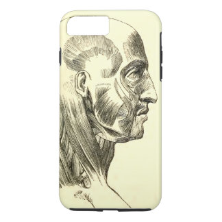 Vintage Anatomy | Muscles of the Head (circa 1852) iPhone 8 Plus/7 Plus Case
