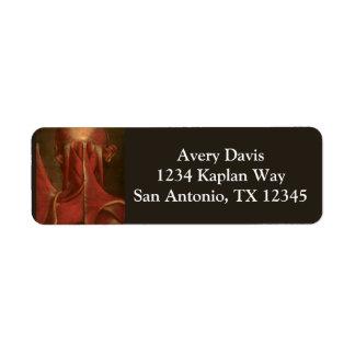 Vintage Anatomy   Neck Return Address Label