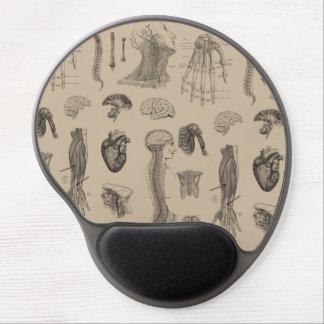 Vintage Anatomy Print Gel Mouse Pad