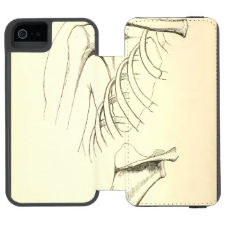 Vintage Anatomy | Scapula (circa 1852) Wallet Case For iPhone SE/5/5s