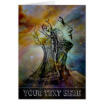 Vintage Anatomy Skull and Neck Orion's Nebula Greeting Card