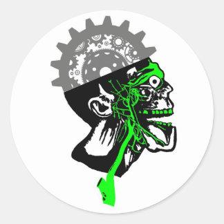 Vintage Anatomy - Steampunk Gears Skull Stickers