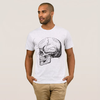 Vintage Anatomy Terms Human Skull T-Shirt