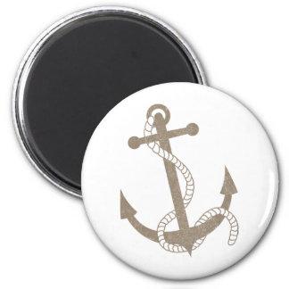 Vintage Anchor 2 Inch Round Magnet