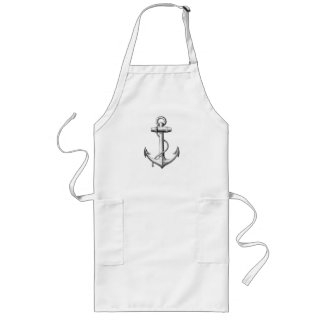 Vintage Anchor Apron (long)