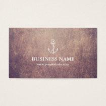 Vintage Anchor Grunge Nautical Business Card