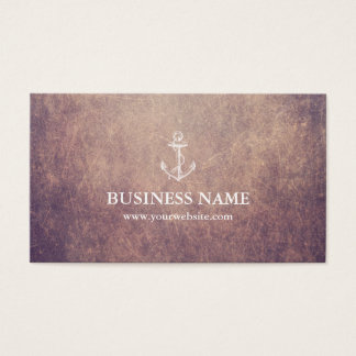 Vintage Anchor Grunge Nautical Business Card