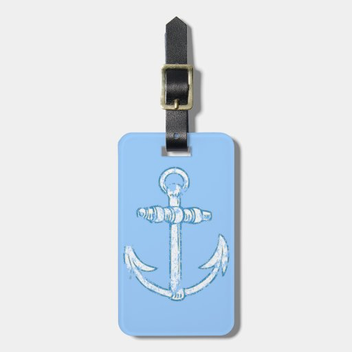Vintage Anchor Luggage Tags