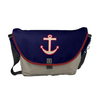 Vintage Anchor Messenger Bag