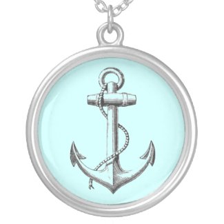 Vintage Anchor necklace (blue) necklace