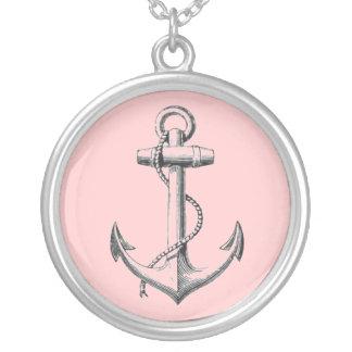 Vintage Anchor necklace (pink)