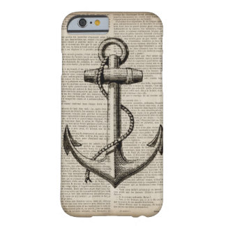 vintage anchor ocean map beach fashion nautical barely there iPhone 6 case