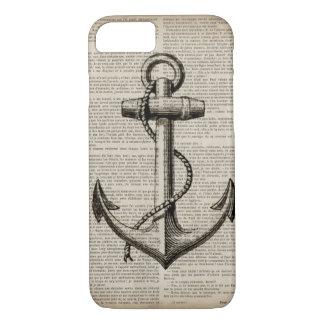 vintage anchor ocean map beach fashion nautical iPhone 7 case