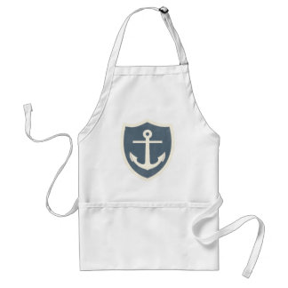 Vintage Anchor Print Adult Apron