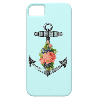 Vintage Anchor & Roses iPhone SE/5/5s Case