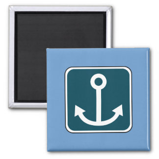 Vintage Anchor Sign 2 Inch Square Magnet