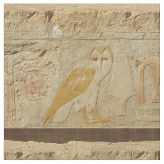 Vintage Ancient Egyptian Owl Fabric