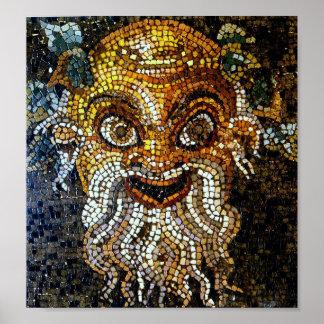 Vintage Ancient Mosaics (Pompei) Poster