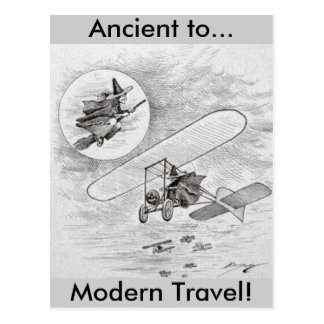 Vintage Ancient to Modern Travel Postcard