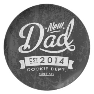 Vintage and Eye Catching New Dad 2014 Plate