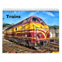 Vintage and Modern Trains Calendar