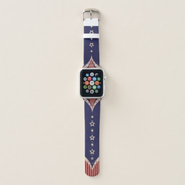 USA Themed Vintage and Patriotic Americana Apple Watch Band