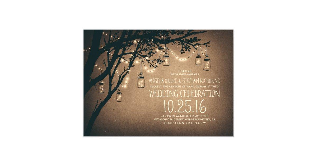 Rustic Wedding Invitations | Zazzle