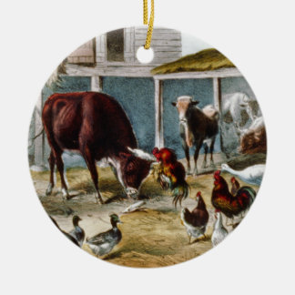 Vintage and The Champions of the Barn Ceramic Ornament