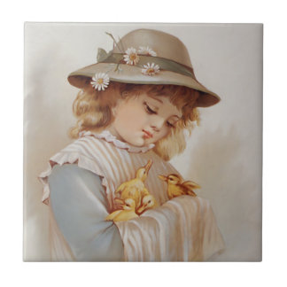 Vintage and Victorian Children Tiles