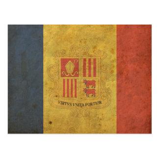 Vintage Andorra Flag Postcard