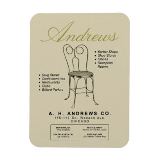 Vintage Andrews Ice Cream Chair Advertising Magnet