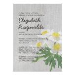 Vintage Anemone Bridal Shower Invitations Personalized Invitation