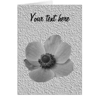 Vintage Anemone Customizable Greeting Card