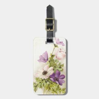 Vintage Anemone Flower Bag Tag