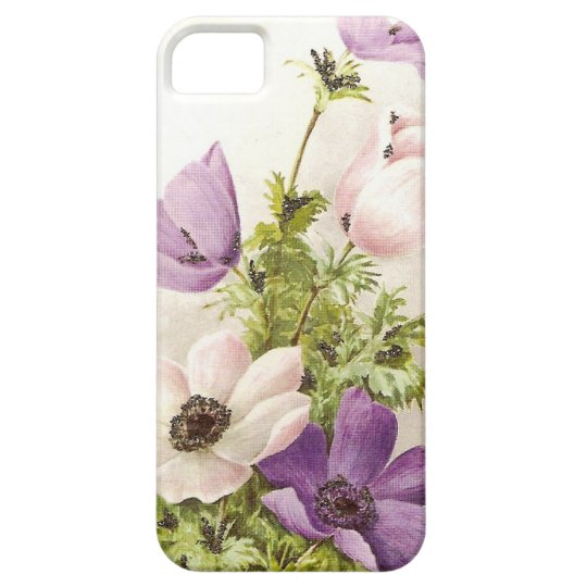 Vintage Anemone Flowers iPhone SE/5/5s Case