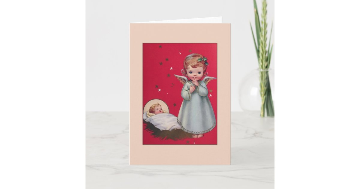 7 Vintage Caspari Christmas Cards by Dana Strange Baby Jesus in manger