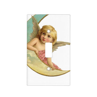 Vintage Angel and Cresent Moon Switch Plate Cover
