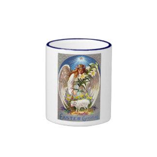 Vintage Angel and Lamb Mug