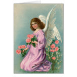Vintage Angel and Roses Card