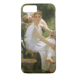 Vintage Angel Art, Work Interrupted by Bouguereau iPhone 8/7 Case