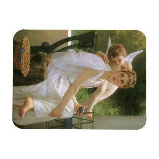 Vintage Angel Art, Work Interrupted by Bouguereau Magnet