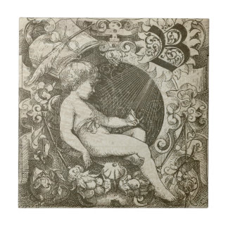 Vintage Angel Ceramic Tile