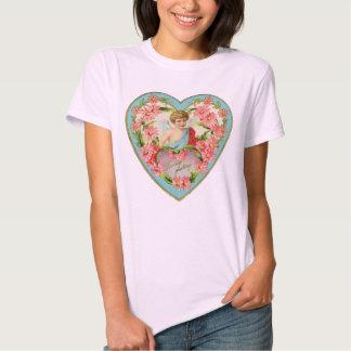 Vintage Angel Cherub Valentine's Day Heart Shirt