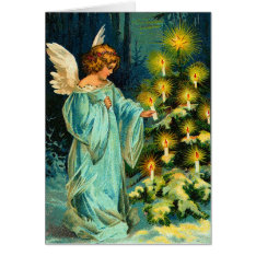 Vintage Angel Christmas Card at Zazzle