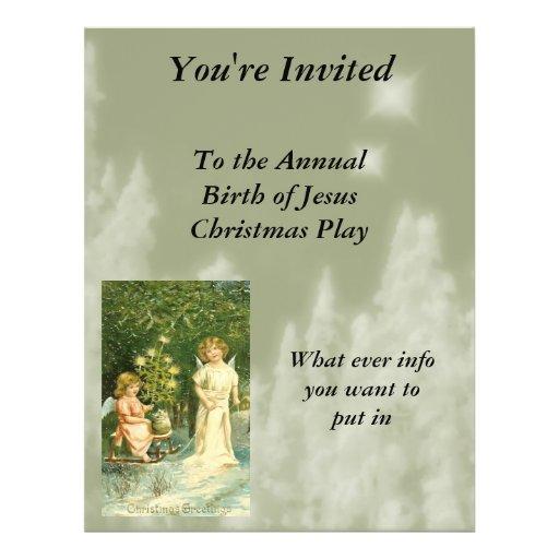 Vintage Angel Christmas Flyer